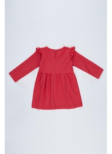 DeFacto Kız Bebek Baskılı Selanik Kumaş Elbise Kırmızı